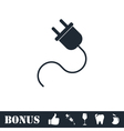 Power cord icon flat vector image