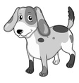 Puppy standing alone on white vector image