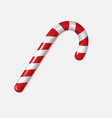 realistic xmas candy cane isolated vector image vector image