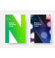 report cover template with green soft gradient vector image vector image