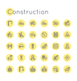 Round Construction Icons vector image