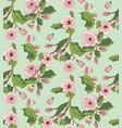 sakura blossom ornament vector image vector image