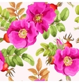 seamless brier rose vector image vector image