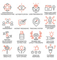 Set of icons related to business management - 36 vector image vector image