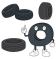 set of tire vector image