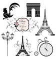 Set on the theme of France vector image vector image