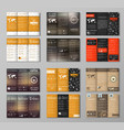 Set triple folding coffee menu vector image