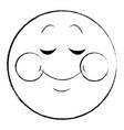 shy smile chat emoticon sketch vector image vector image