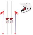 Ski equipment vector image vector image