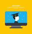 student graduate flat vector image