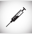 syringe with cure on white background vector image