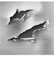 torn ripped steel template sides with vector image vector image
