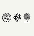 trees in different styles a set templates vector image vector image