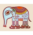 tribal elephant ice skating ornamental marker vector image