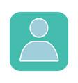 user account box glyph color icon vector image vector image