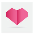 valentine love pink heart paper craft in frame vector image vector image