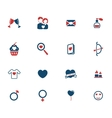 Valentines day simply icons vector image