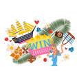 victory in competition ships in bottles prize vector image vector image