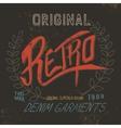 Vintage retro label vector image vector image