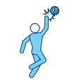 voleyball player pictogram vector image vector image