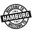 welcome to hamburg black stamp vector image vector image