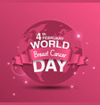 world cancer day february 4th background vector image vector image