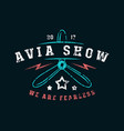 air show emblem in thin line style vector image