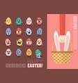 happy easter postcard set vector image