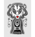 cute ornate doodle fantasy monster vector image