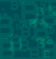 abstract bitcoins pattern background vector image vector image