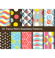 Abstract seamless patterns Geometrical and vector image vector image
