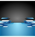 Abstract tech geometric corporate background vector image vector image