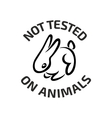 Animal testing black logo icon with rabbit vector image vector image