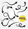 arrow set design element vector image