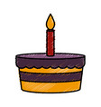 bakery birthday cake vector image vector image