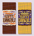banners for indian diwali vector image vector image