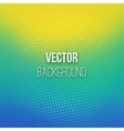 Blue-yellow Blurred Background With Halftone vector image vector image