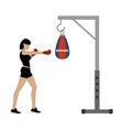 boxing workout vector image vector image