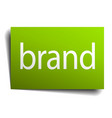 brand green paper sign on white background
