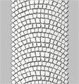 brick stone trackway vector image vector image