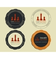 Business logo templates and badges Chess Smart vector image vector image