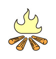 campfire icon isolated on white background from vector image vector image