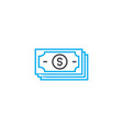 cash generation thin line stroke icon cash vector image vector image