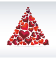 Christmas card hearts design Abstract background vector image