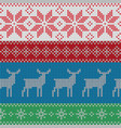 christmas color patterns nordic style ornament vector image