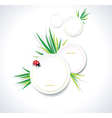 Clean summer stickers with grass vector image vector image