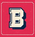 college cheerleader style american vintage font vector image vector image