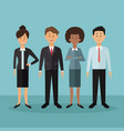 color background with full body people standing vector image vector image