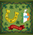 color of st patricks day celebration lucky vector image