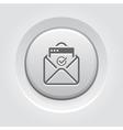 Confirmation Letter Icon Grey Button Design vector image vector image